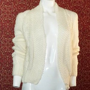 JONATHAN HUNTER Vintage cream cardigan S